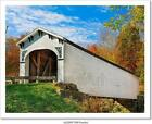 Richland Creek Covered Bridge Art/Canvas Print. Poster, Wall Art, Home Decor