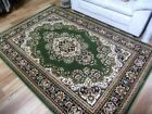 Traditional High Quality Vibrant Voyage Design Medallion Green Floor Area Rugs