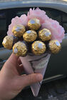 pink roses & chocolates bouquet gift hamper for any occassion birthday thank...