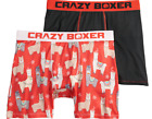 2 Pair Crazy Boxer Briefs Mens Size S M L Alpaca Llama Christmas Holiday L35 MPA