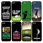 Personalised Golf Name Glass Case Back for iPhone 6 6s 7 8 PLUS X XS MAX XR