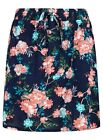Ladies Girls Skirt Shorts Cotton Skorts Lined Floral Summer Beach Lounge Size
