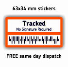 DUMMY TRACKING STICKERS - Bar Code Postal INR Labels tracked post delivery