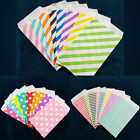 100pc Small Paper Treat Bags 3x5 Colorful Polka Dot Stripes Chevron Party Favors