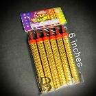 Kyпить Sparkling Candles Birthday Candles Party Wedding Sparklers Gold Candles 6