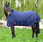 Hy Lightweight Waterproof Turnout Rug 600D Rip Stop No Fill 0g Navy/Red 4'6-7'0""