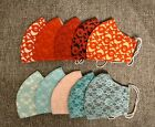 Kyпить Handmade Washable 3-Layers Fabric Cloth Face Masks - With Lace на еВаy.соm