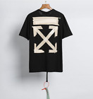 OFF WHITE men's Alphabet arrow print oversized loose short sleeves new