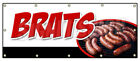 BRATS BANNER SIGN bratwurst beer wisconsin cheese grilled battered