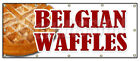 BELGIAN WAFFLES BANNER SIGN dessert whipped cream