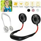 Kyпить Portable USB Rechargeable Fan Neckband Lazy Neck Hanging Dual Cooling Mini Fan на еВаy.соm