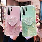For Samsung Galaxy A71 A70 A51 A50 A01 S20 Note10 Glitter Bling Heart Case Cover