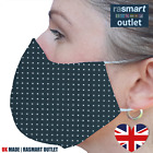 UK Made Face Masks Double Layer 100% Pure Cotton Washable Reusable Breathable