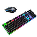 Rainbow Gaming Keyboard Mouse Set LED Wired USB For PC Laptop PS4 Xbox One 360