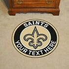New Orleans Saints Personalized Mat Either Round or Football Shape $39.99 USD on eBay