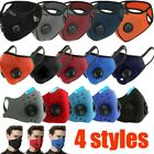 Reusable Face Mask with Air Breathing Port Valves & ONE FREE PM2.5 Carbon Filter