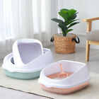 Cat Litter Box Dog Tray Sand Pan Toilet Training Bedpans with Shield Scoop