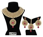Indian Necklace Fashion Gold Plated Bollywood Bridal Wedding Ethnic Jewelry Set