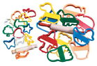 Creativity Street Jumbo Animal and Objects Designs Clay Cutter Set with Rolling image