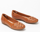 Clarks Collection Leather or Suede Flats Gracelin Maze Tan - NEW