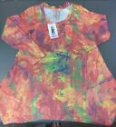 PHILOSOPHY Womens Shark Bite Orange Multi-color  Shirt Sz Small S and XL