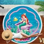 Disney Mermaid Children's Adult Bath Towels Round Beach Towel Fiber Tassel Princ