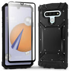 LG Stylo 6 Magnetic Phone Case with Glass Screen Protector