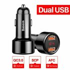 Baseus 45W Car Charger Type-C PD 3.0 USB QC 4.0 Quick Charge For Samsung LG