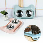 Stainless Steel Double Pet Bowl Dog Cat Twin Food Water Dish Feeding Bowls UK