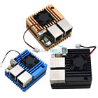 Mini Router Dual Ethernet Ports Power Supply Board with Case Fan for NanoPi R2S