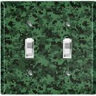 Metal Light Switch Cover Wall Plate Digital Green Camouflage Patten CAM002