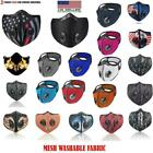 Kyпить NEW style Cycling Face Mask With Active Carbon Filter Breathing Valves Reusable  на еВаy.соm