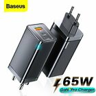 Baseus 65W GaN Wall Charger QC 4.0 PD 3.0 Laptop Phone Tablet Charging Adapter