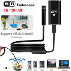 US For Android iPhone WIFI Endoscope Waterproof Borescope Inspection Camera 8LED
