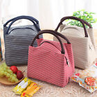 Portable Insulated Thermal Bento Bag Picnic Bag Carry Tote Picnic Storage