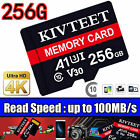 2020 Hot KRECOO 256GB Memory Card 100MB/S 4K Class10 Flash TF Card with Adapter