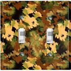Metal Light Switch Cover Wall Plate Artistic Camouflage Green Pattern