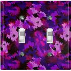 Metal Light Switch Cover Wall Plate Artistic Camouflage Purple Pattern