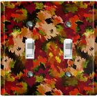 Metal Light Switch Cover Wall Plate Artistic Camouflage Red Pattern