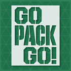 Green Bay Packers stencil - 14x11 - 11x8.5 - 5x4 - Reusable Mylar - Template $19.64 USD on eBay
