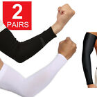2 Pairs Unisex Outdoor Sports Cooling Arm Sleeves Cover Uv Sun Protection Usa