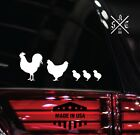 Chicken Family Sticker Decal [ Vinyl Accent For Car Laptop Journal Flask Wall]