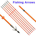 "Bowfishing Arrows 32"" Fiberglass Shaft with Fish Hunting Tips Point & Safe Slide"