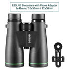 Nitrogen Filled Telescope Waterproof BAK4 Roof Prism Binoculars w/ Phone Adapter image