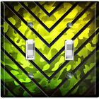 Metal Light Switch Cover Wall Plate Kids Room Metal V Green Camouflage