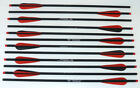 """20"""" Crossbow Carbon Bolts Super Heavy Hammerfist Hobo Archery Products Red/Black"""