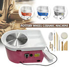 Multi-colored Electric Pottery Wheel Machine 25CM Ceramic Clay Craft Molding  image