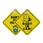 Baby on Board Car Warning Safety Suction Cup Sticker Waterproof Notice Board Hot