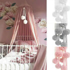 Nursery Chiffon Ball Decor Baby Kids Net Bed Canopy Bedding Hanging Accessories
