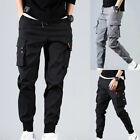 Men's Casual Hip Hop Harem Pants Trousers Cargo Joggers Streetwear Fashion Pants